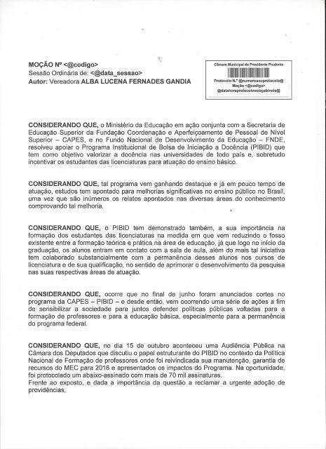Profª Alba Lucena: Moção:SEJA MANTIDO O PROGRAMA INSTITUCIONAL DE BOL...
