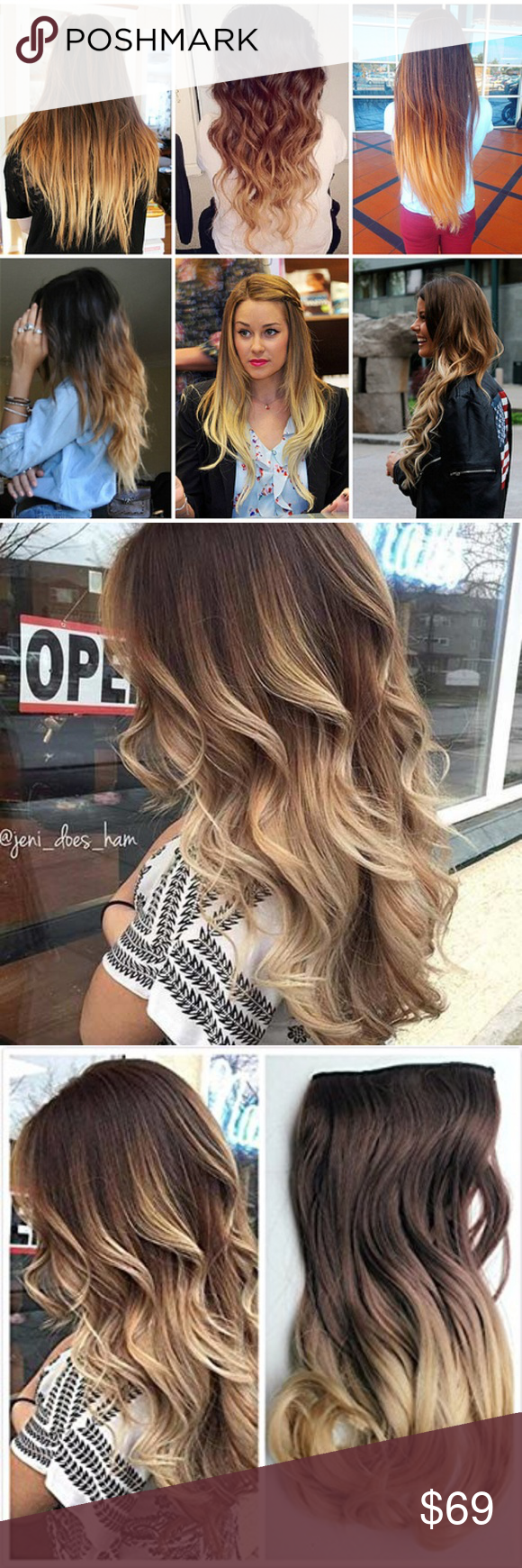 Ombre Blonde Clip in Extension in My Posh Picks Pinterest