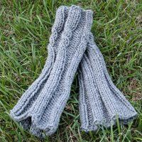 Cable Legwarmers for a child