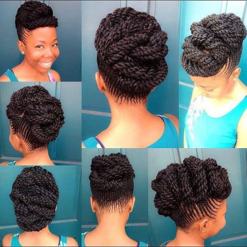 Natural Hair Updos Pinterest