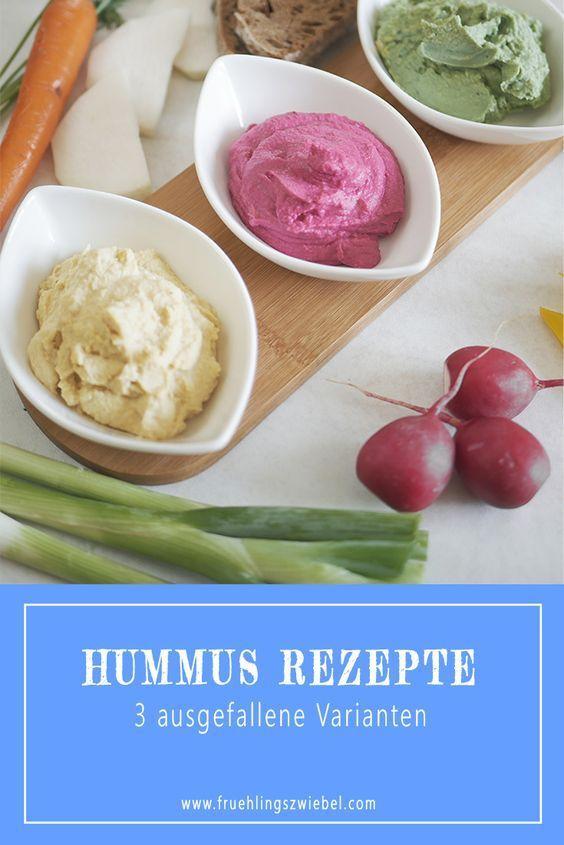 Hummus selber machen - Natur, Avocado und rote Beete Hummus