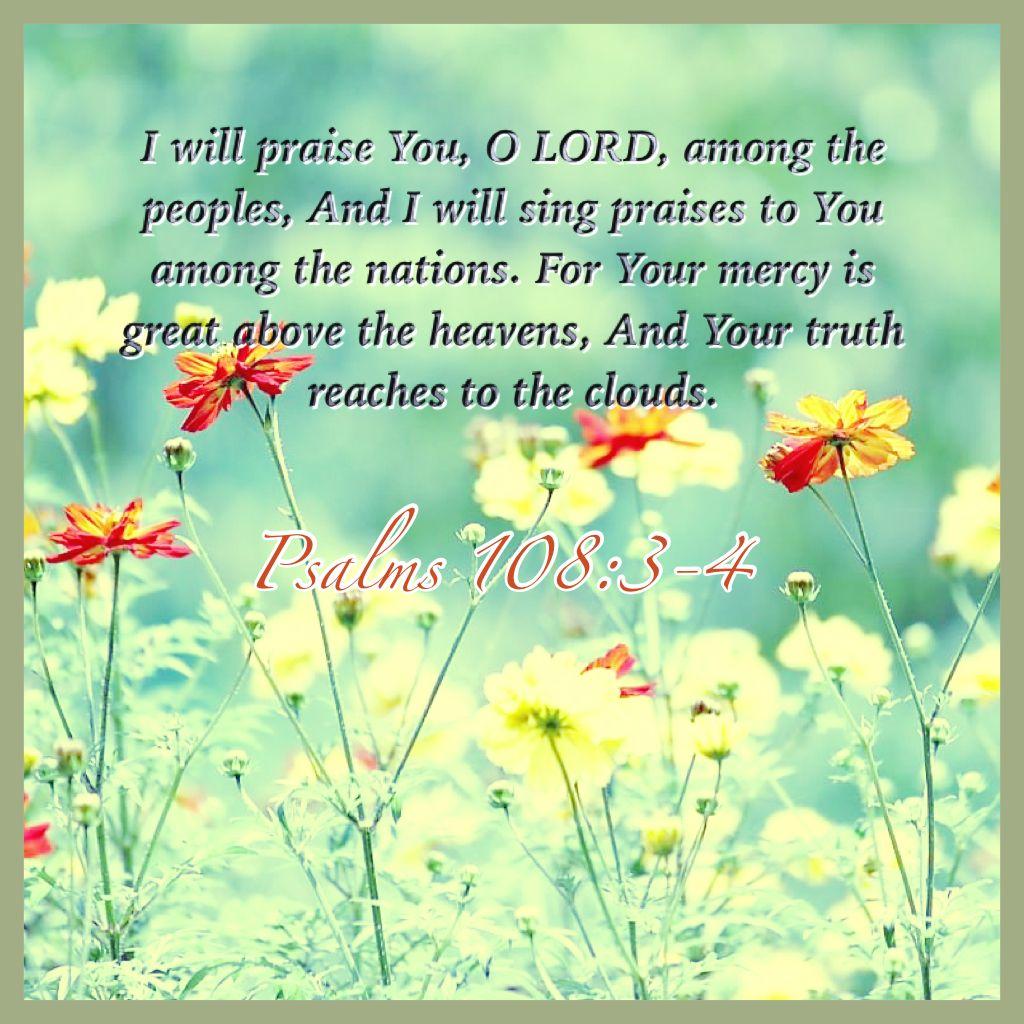 Psalm 108:3-4