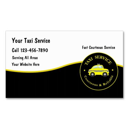 Taxi Cab Business Cards This Is A Fully Customizable Card And Available On Several Paper Types For Your Needs You Can Upload Own Image Or