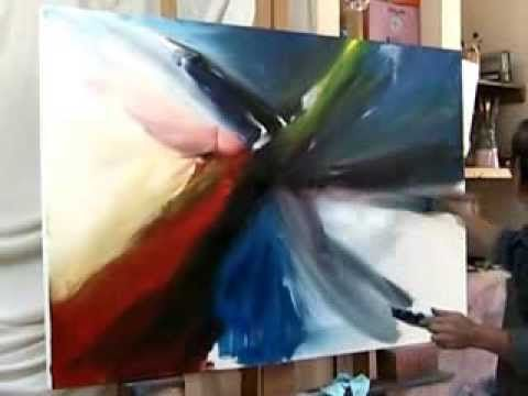 Acrylmalerei Demo - Fluid Abstract Art Painting White Rock - Acrylic Painting by Brigitte König - YouTube