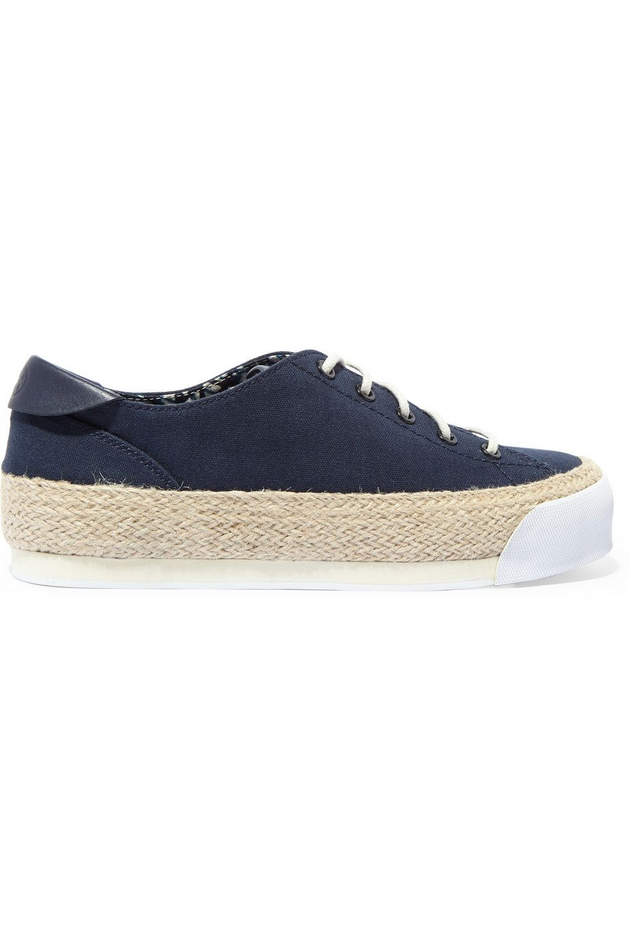 TORY BURCH Canvas Platform Espadrille Sneakers. #toryburch #shoes #sneakers