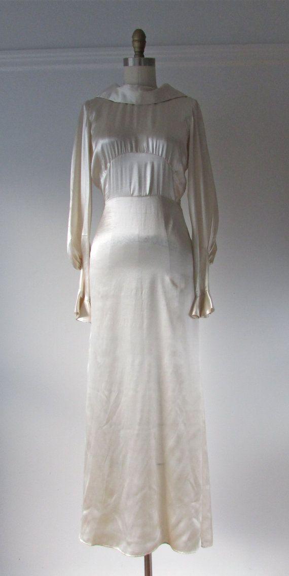 Deco Belle / 30s wedding dress / vintage 1930s wedding gown