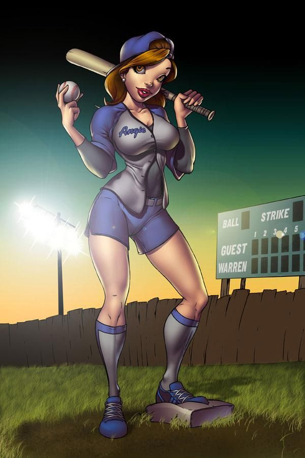 baseball by dominic marco600 - Sexy pin-up girls by Dominic Marco  <3 <3