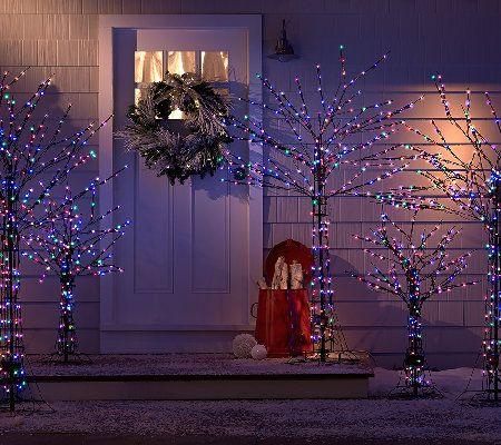 Santa's Best 4' AllSeason Prelit Brown Wire Tree with RGB
