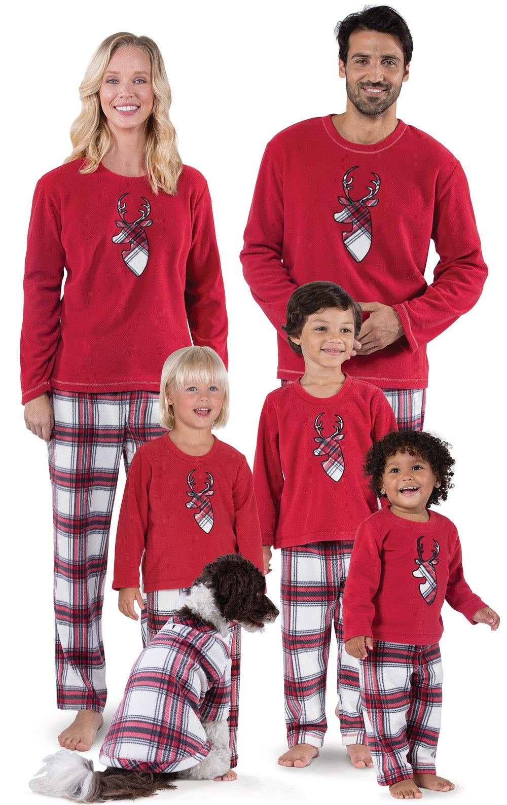 67bbf287c0 Fireside Plaid Fleece Matching Family Pajamas | View All | Matching Family  Sets | Pajamagram