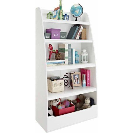 Buy Ameriwood Home Mia Kids 4 Shelf Bookcase White At Walmart