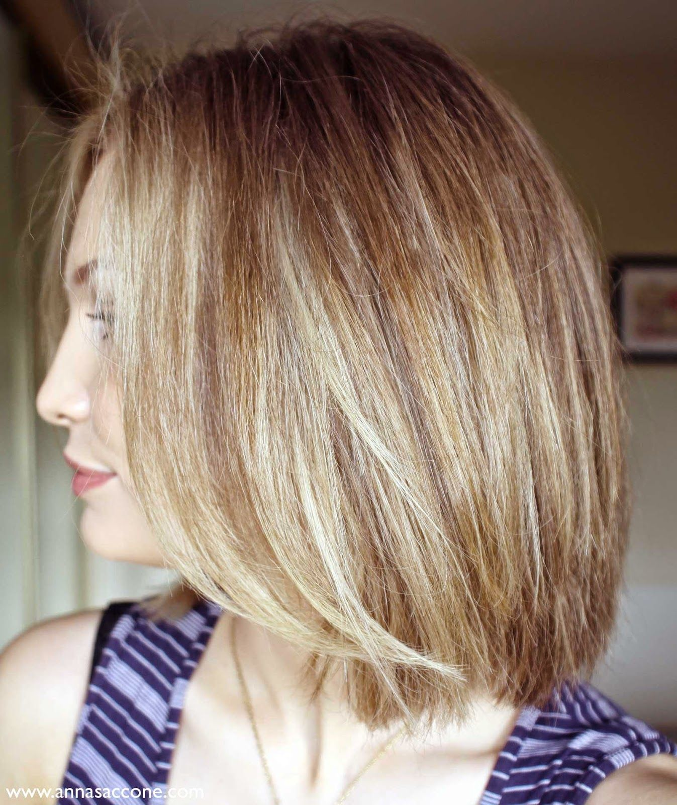 Anna Saccone Beauty Tuesday How To Style a Long Angled Bob