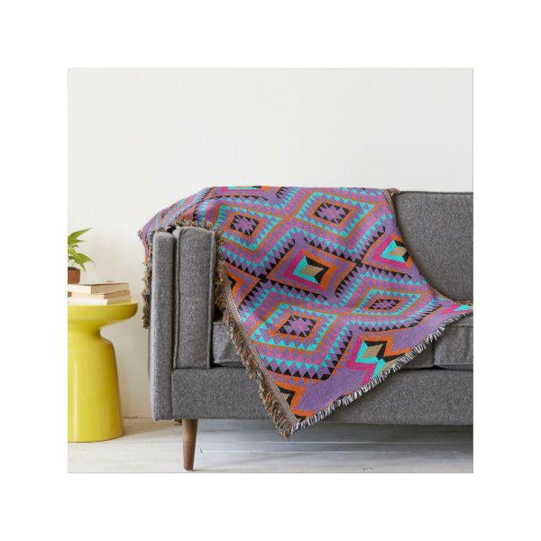 Colorful Throw Blankets Impressive Modern Bright Colorful Harlequin Geometric Design Throw Blanket £60