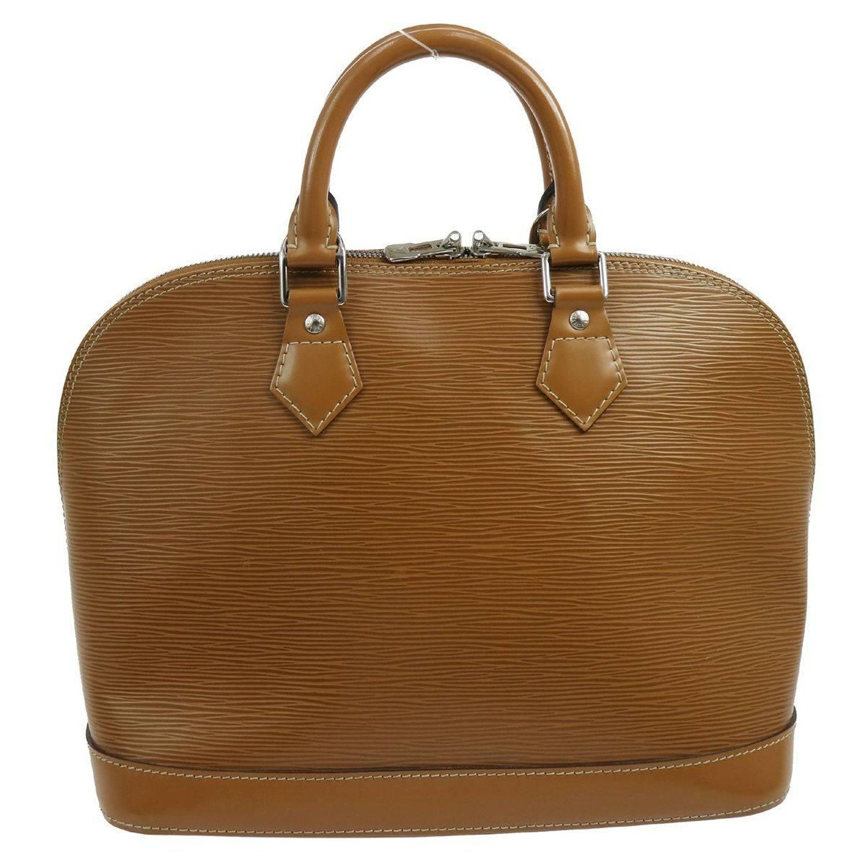 03c8e0d34d43 Louis Vuitton Caramel Cognac Leather Evening Top Handle Satchel Bag