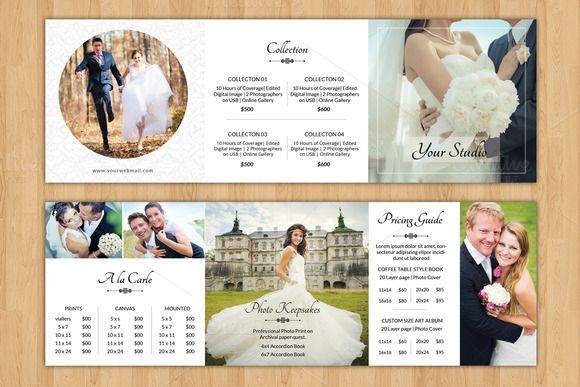 Square Trifold Wedding Brochure-V446 by Template Shop on - wedding brochure template