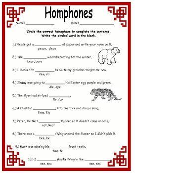 Homophones Worksheets Activities More Literacy Readers
