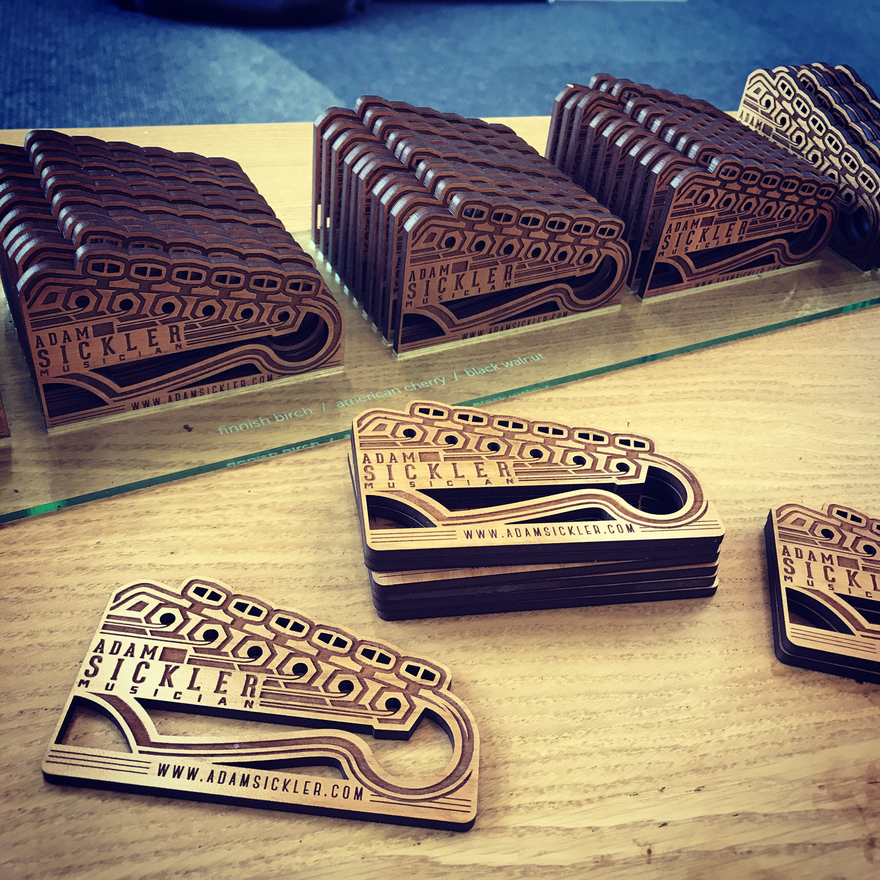 Our Wood Cards Shown Here In American Cherry Can Be Cut To Any