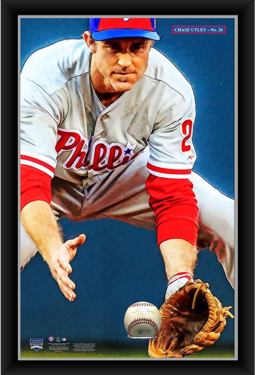 Chase Utley 20x32 Baseball Holder Display w/ Game-Used Baseball ...