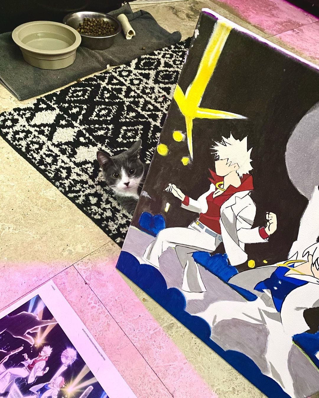 Is that the dance scene from the School Festival arc in @plusultra?! 👀 • Why, yes, little kitten it is! The very one with Todoroki and Bakugo, and it's up for grabs!! 🙀DM me if you're interested! 😺 • • Artist: @sir_oculus_dexter🎨 Page: @sir_oculus_designs 🎨 • • • • Hashtags: #artist #art #dallasartist #dallasart #localart #localartist #artoninstagram #artofinstagram #artistoninstagram #artistsoninstagram #todoroki #bakugo #mha #schoolfestival #animeart #anime #fanart #fanartanime