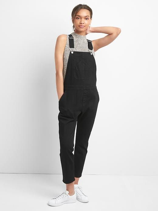 977292a7cec Gap Womens Slouchy Crop Denim Overalls Black Size XL | Products ...