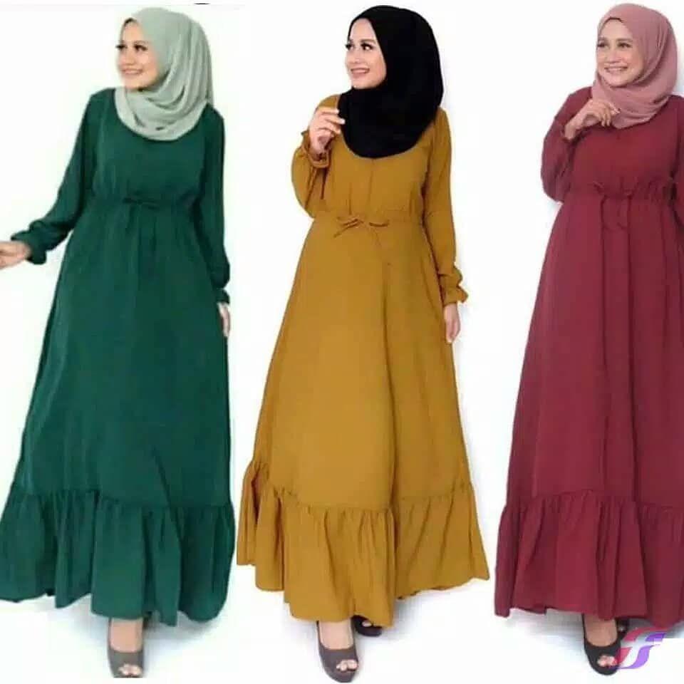 Gamis Wolfis Umbrella/ Wolpeach  Muslim fashion dress, Muslim
