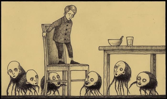 freaky horror drawings of monsters by artist john kenn mortensen are the stuff of nightmares
