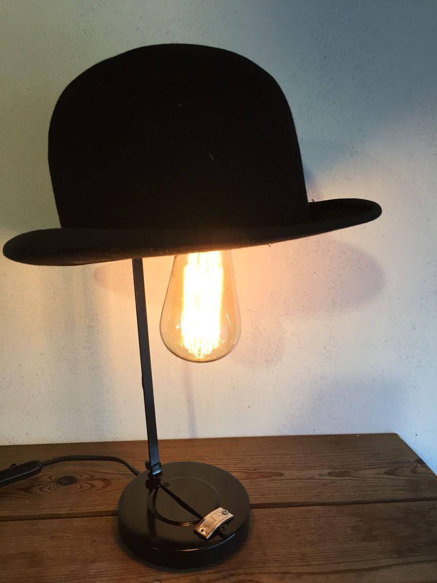 Lampe orignale deco anciens chapeaux SOIT melon SOIT haut de forme a