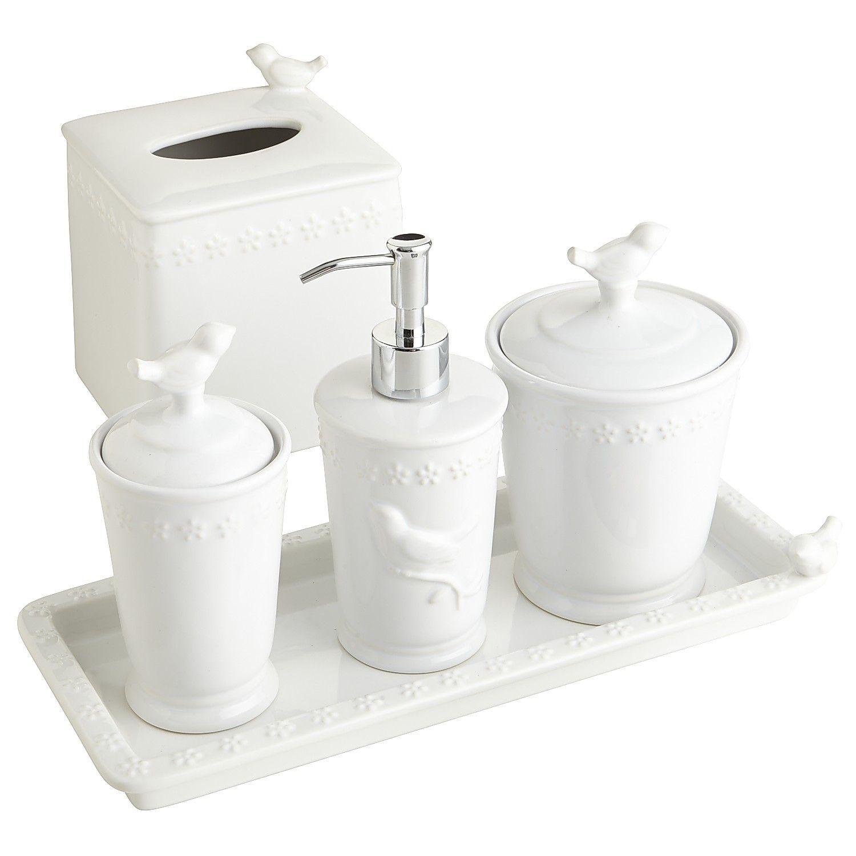 White Bird Stoneware Bath Accessories | Bathroom pictures ...