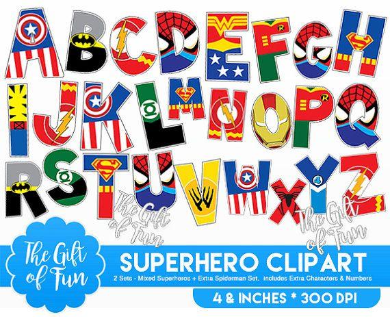 Superhero Alphabet Clipart Includes Superman By Thegiftoffun