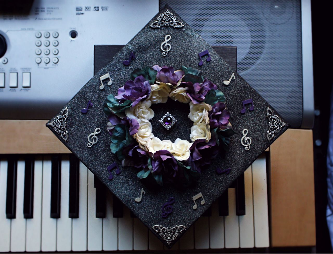 decorated graduation caps music Google Search