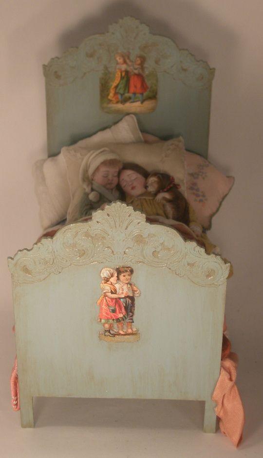 Children in Bed by Gale Elana Bantock