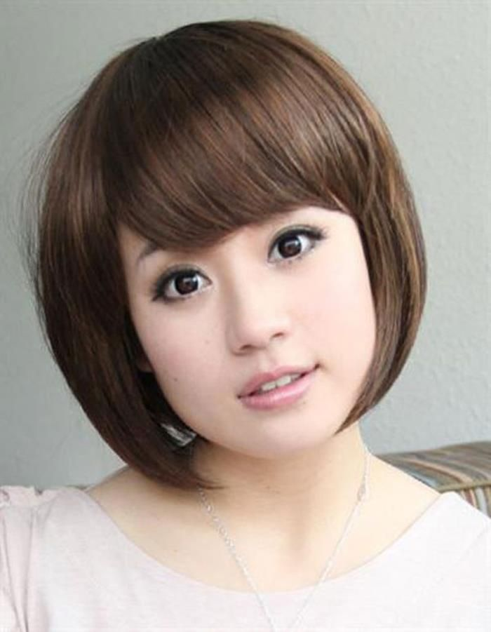 Short Hair Styles For Round Faces Medium Long Hairstyles