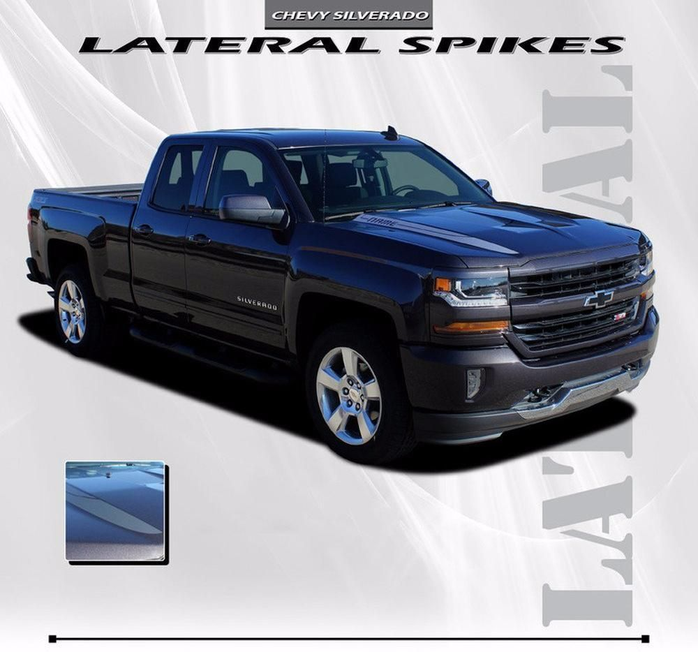 2016 2018 Chevy Silverado 1500 Lateral Spikes Double Hood Spear Hood