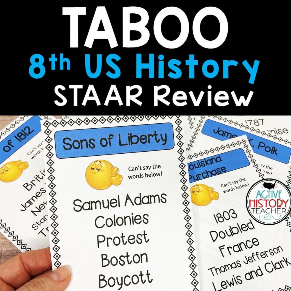 Us History Staar Review Taboo 8th Grade Staar Review Staar Interactive Notebooks Social Studies [ 1000 x 1000 Pixel ]