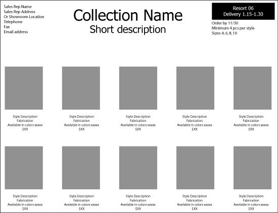 How to make a line sheet pt.2 – Fashion-Incubator | Technical ...