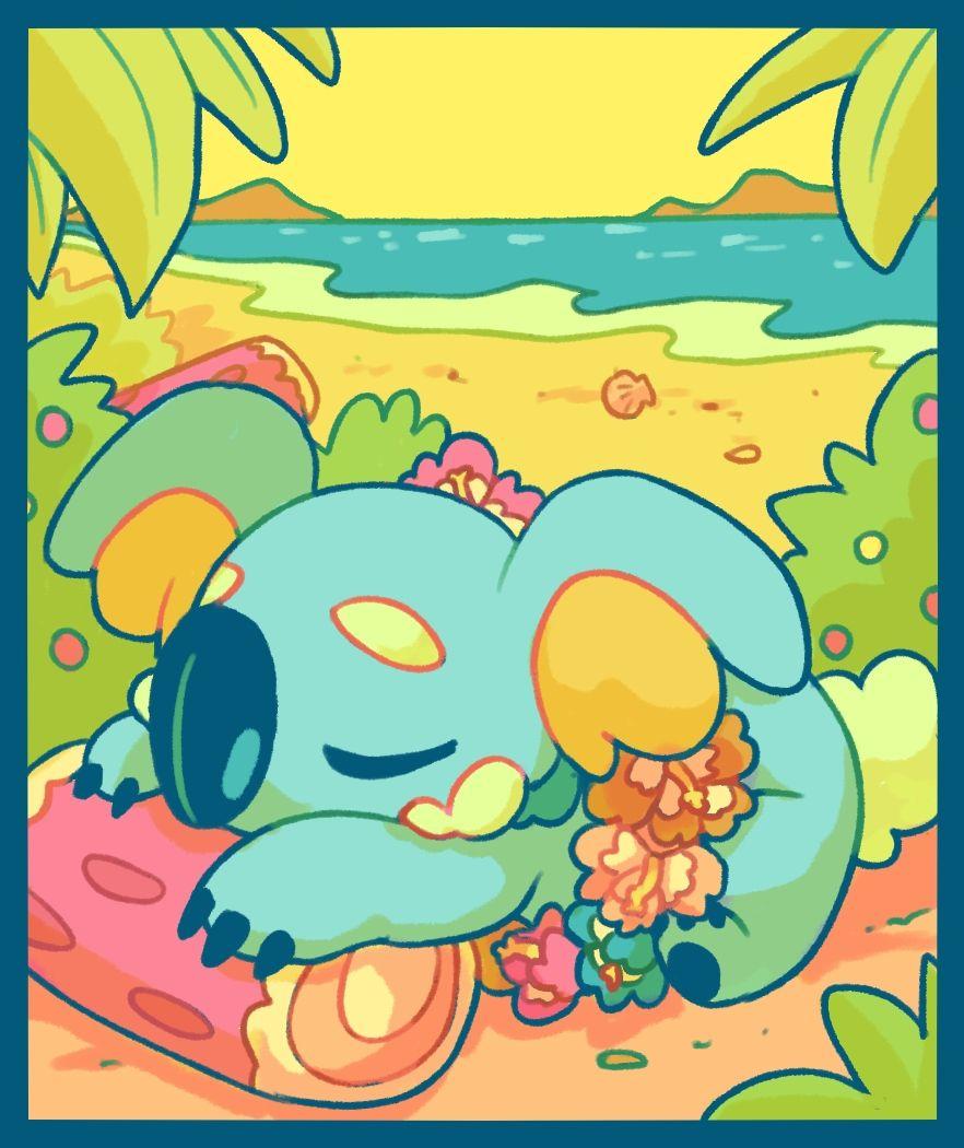 Tags Fanart Pokemon Komala Chocodile Cute Pokemon Pokemon Teams