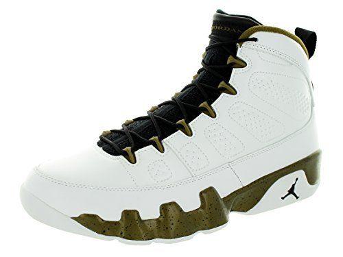 Nike Jordan Men's Air Jordan 9 Retro White/Black/Militia Green Basketball  Shoe 9.5
