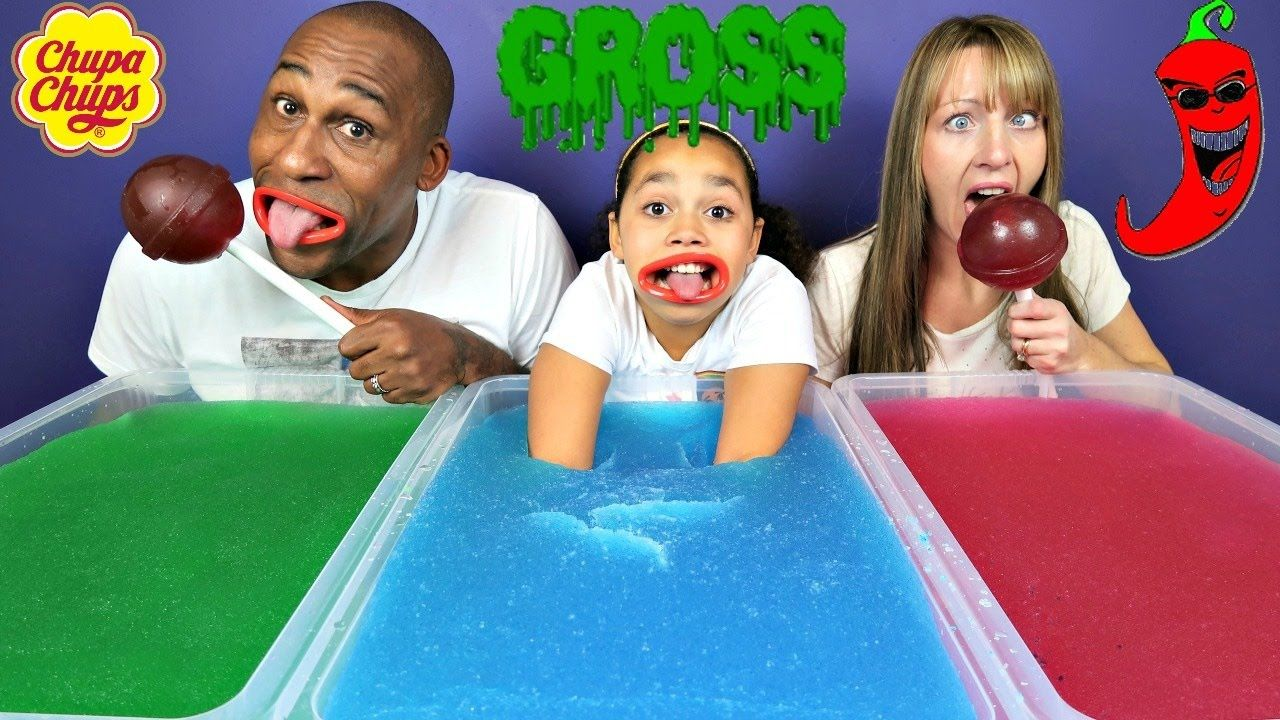 Gross Gelli Baff Toy Challenge Extreme Sour Candy