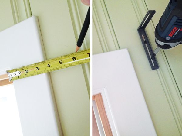 How To Hang Curtain Rods On Wood Paneled Walls Rather Square