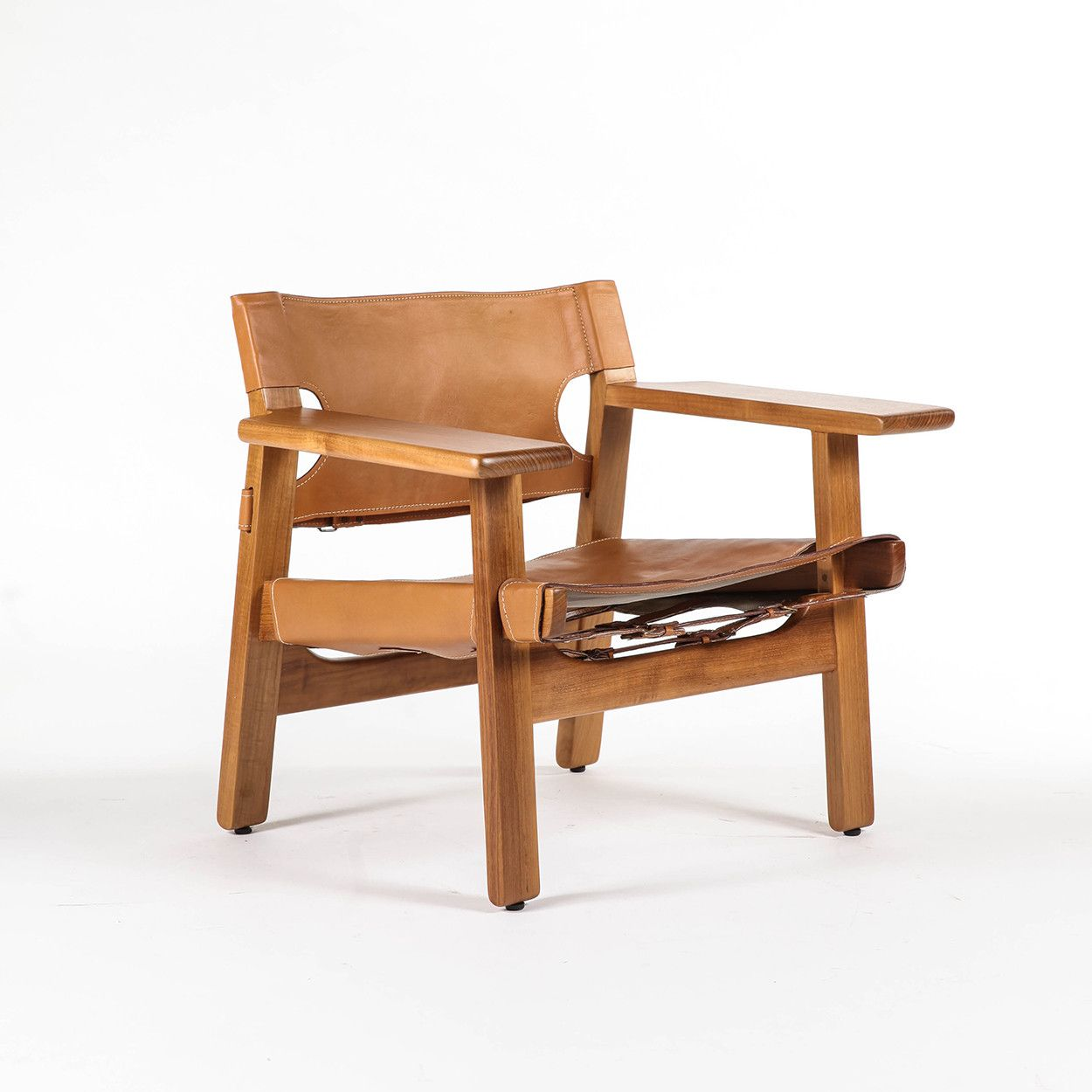 Mid Century Modern Reproduction Spanish Chair Inspired By Borge Mogensen