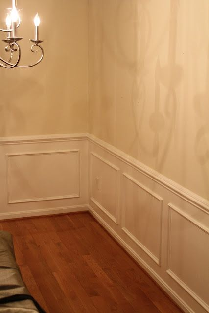 Dining Room Wainscoting Nail On Shadow Boxes Under