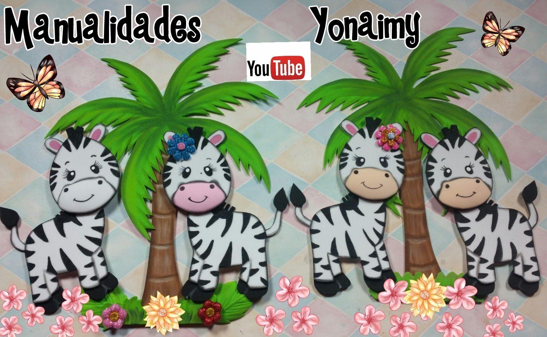 Zebras Hechas Con Foamy O Goma Eva Para Realizar Un Safari Jungle