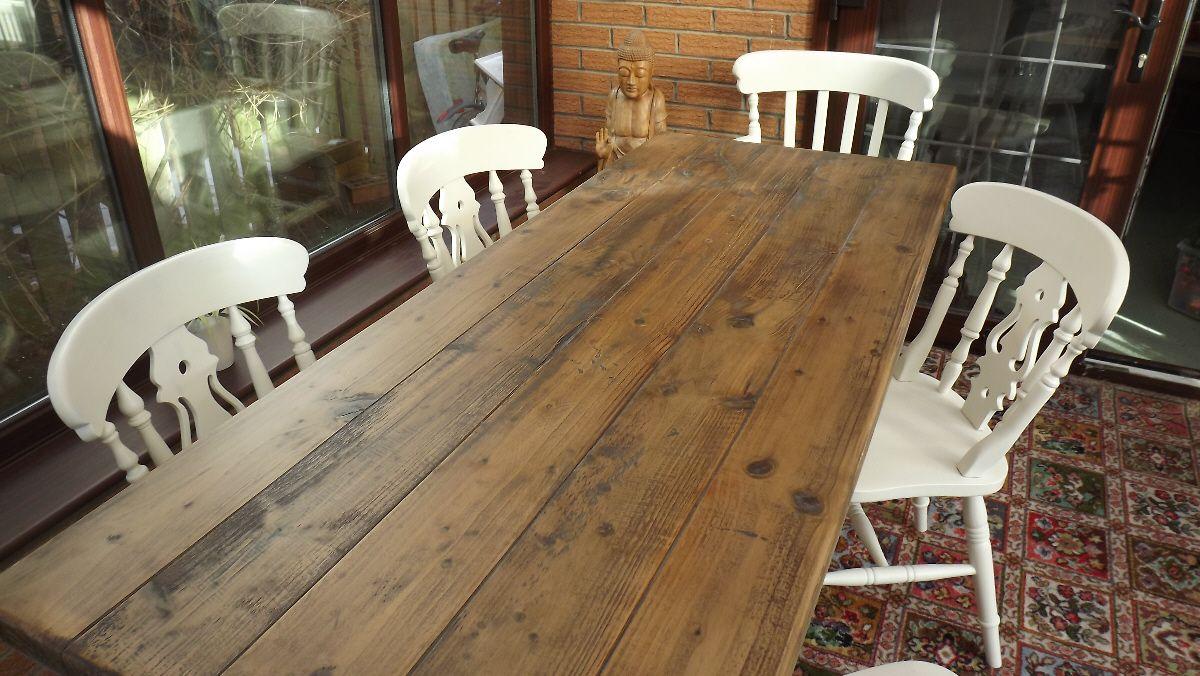 make pine look more like oak | Shabby chic table, Table ...