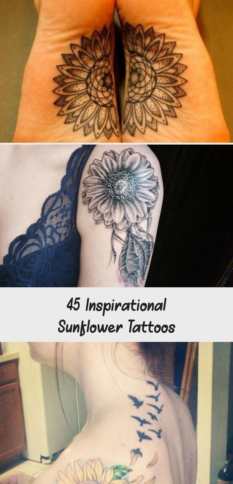 Photo of sunflower tattoo – 45 Inspirational Sunflower Tattoos #sunflowertattoosLeg #Simp…