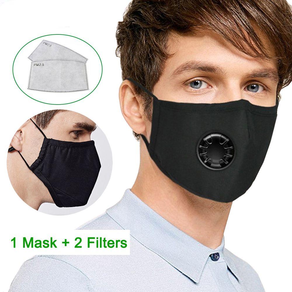PM2.5 Breath Valve Mouth Mask Dust Proof Washable Reusable
