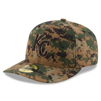 super popular 4fb94 299c1 Men s Kansas City Royals New Era Digital Camo 2016 Memorial Day Low Profile  59FIFTY Fitted Hat