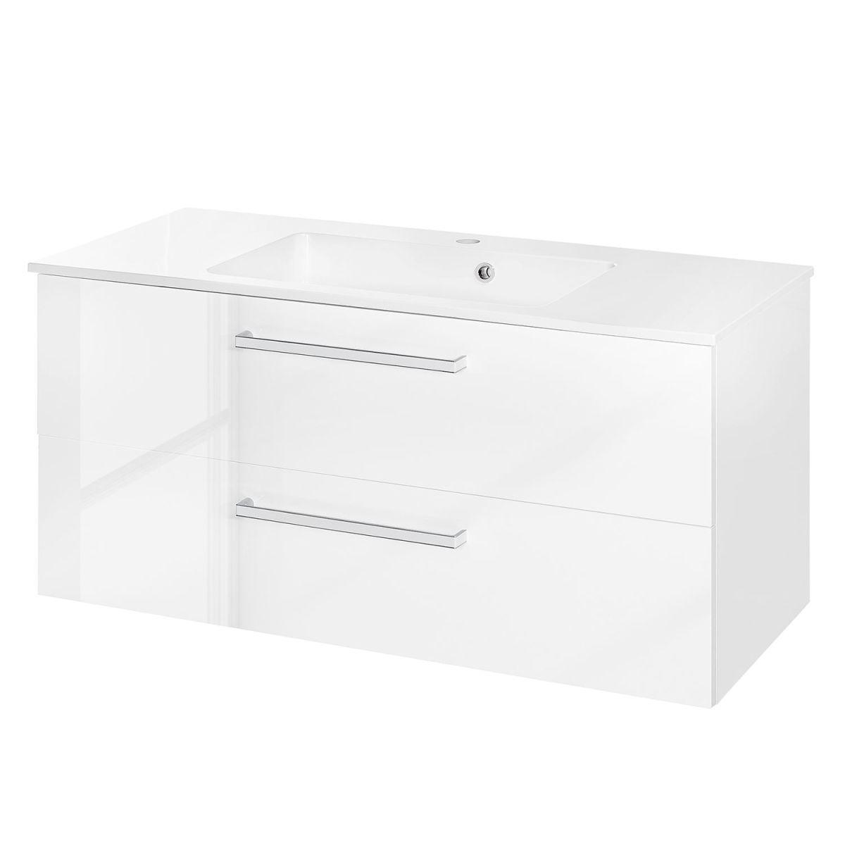 Waschtisch Siena - Hochglanz Weiß - 102,5 cm, Schildmeyer Jetzt ...