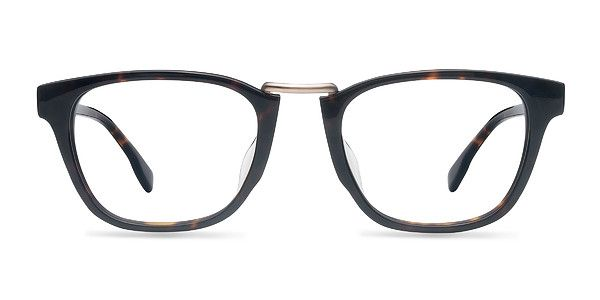 d1d44a1ed4 Details matter with these tortoise eyeglasses. The classic wayfarer shape  is updated with a subtle tortoiseshell finish throughout with a  semi-transparent ...