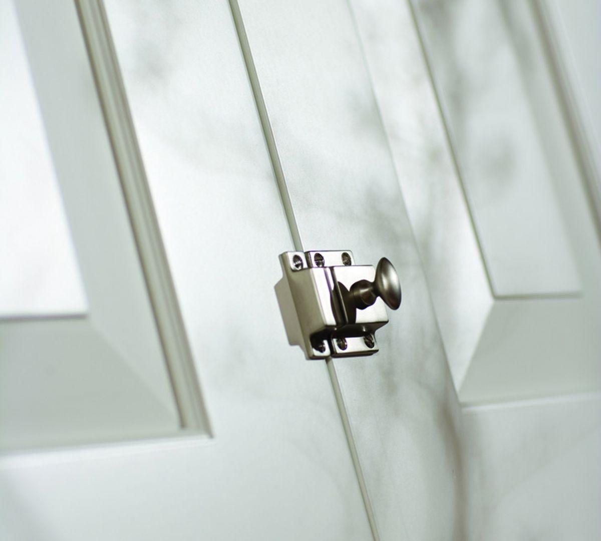 Chrome latch hardware | ELEMENTS: cabinets | Pinterest | Hardware ...