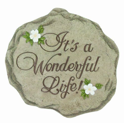 Spoontiques It\u0027s a Wonderful Life Stepping Stone by Spoontiques, Inc