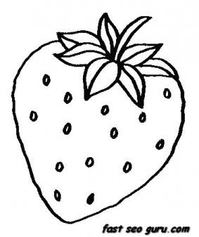 Free Printable Fruits Strawberry Coloring Pages For Kids Vegetable Coloring Pages Fruit Coloring Pages Strawberry Color
